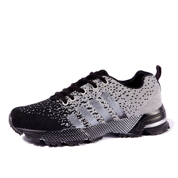 Lace Up Comfortable Sports Shoes-default-Dee SuSu-8702 White Black-6.5-Dee SuSu