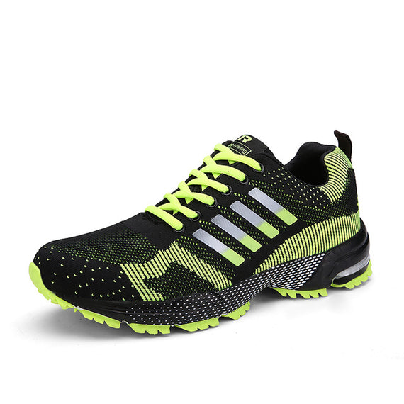Lace Up Comfortable Sports Shoes-default-Dee SuSu-8701 Black Green-7.5-Dee SuSu