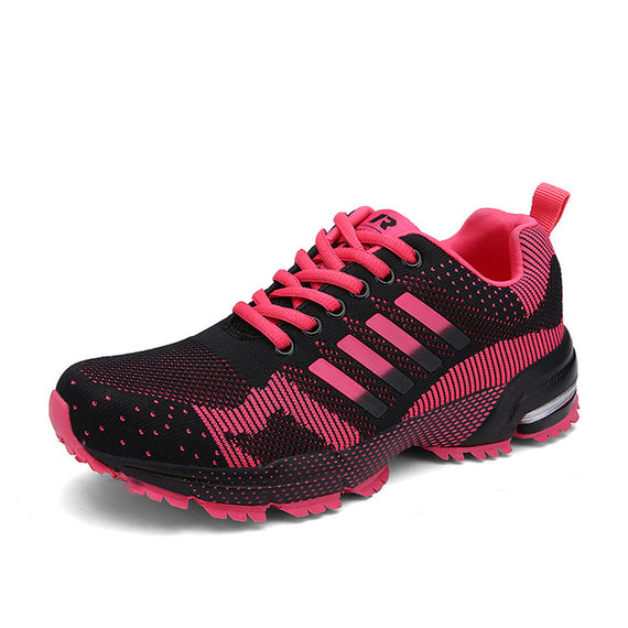 Lace Up Comfortable Sports Shoes-default-Dee SuSu-8701 Black Red-5-Dee SuSu