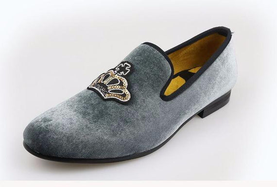 Handmade luxurious shoes/loafers-default-Dee SuSu-GRAY-10.5-Dee SuSu