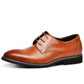 Men's Flats Comfortable Lace- up Business Wedding Shoes-default-Dee SuSu-Dee SuSu