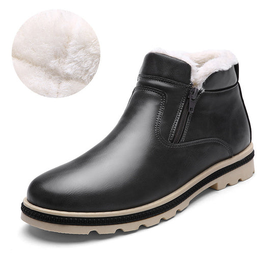 Waterproof Super Warm Winter Leather Boot for Men-default-Dee SuSu-gray-9-Dee SuSu