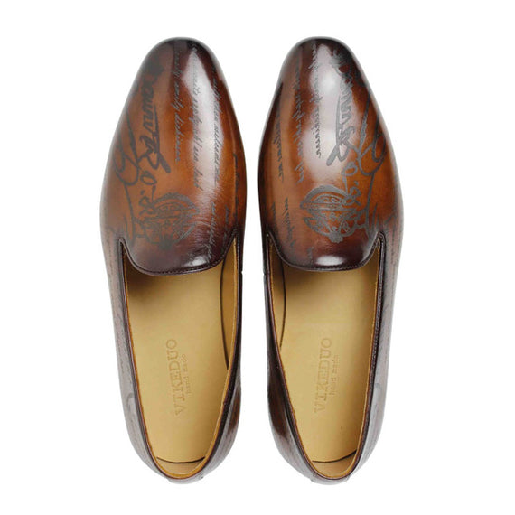 Man's Handmade leather Loafers-default-Dee SuSu-jacinth-8-Dee SuSu
