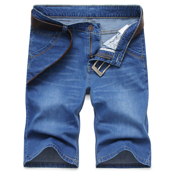 Men's Short Slim Fit Jeans-default-Dee SuSu-lblue-28-Dee SuSu