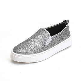 Sequined Flats-shoes-Dee SuSu-Silver-4-Dee SuSu