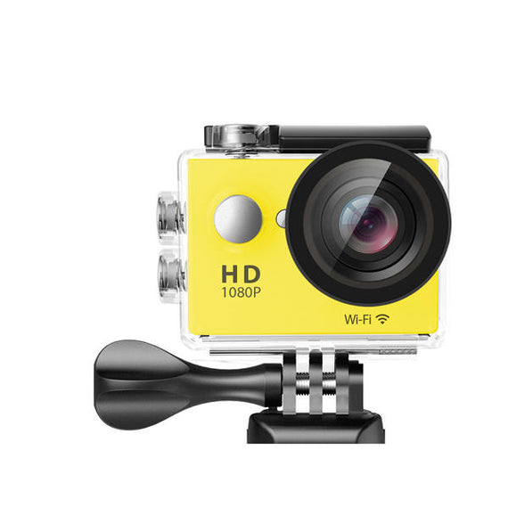 Waterproof Sports Action High Resolution 4K Ultra HD Camera with Remote WiFi-Dee SuSu-Yellow-Dee SuSu