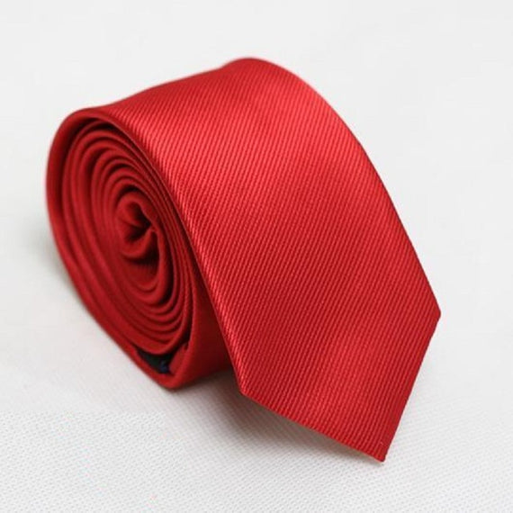 Men's slim neckties-default-Dee SuSu-6cm red-Dee SuSu