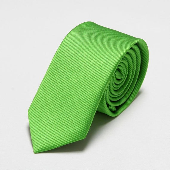 Men's slim neckties-default-Dee SuSu-6cm green-Dee SuSu