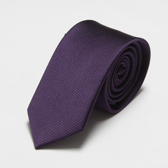 Men's slim neckties-default-Dee SuSu-6cm dark purple-Dee SuSu