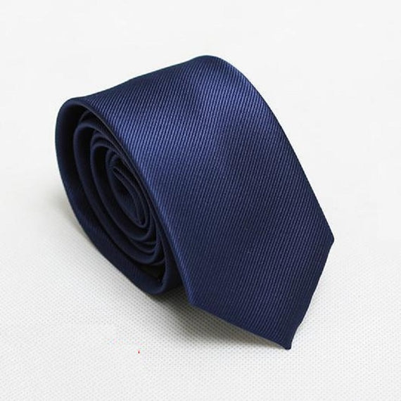 Men's slim neckties-default-Dee SuSu-6cm navy-Dee SuSu