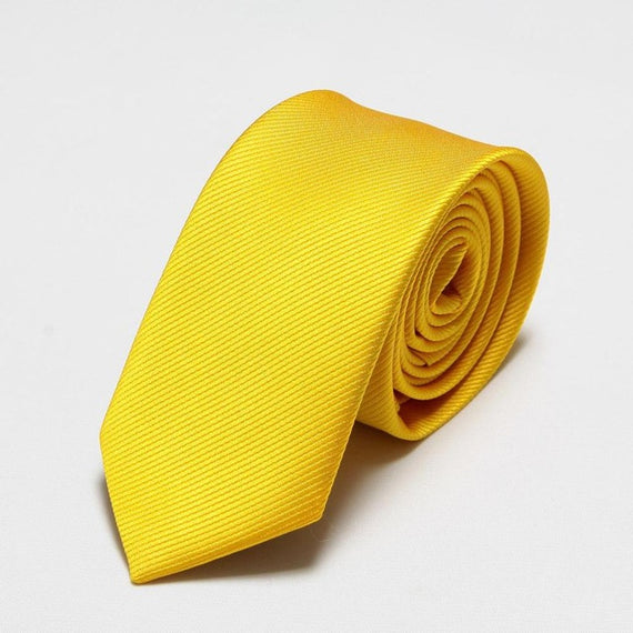 Men's slim neckties-default-Dee SuSu-6cm yellow-Dee SuSu
