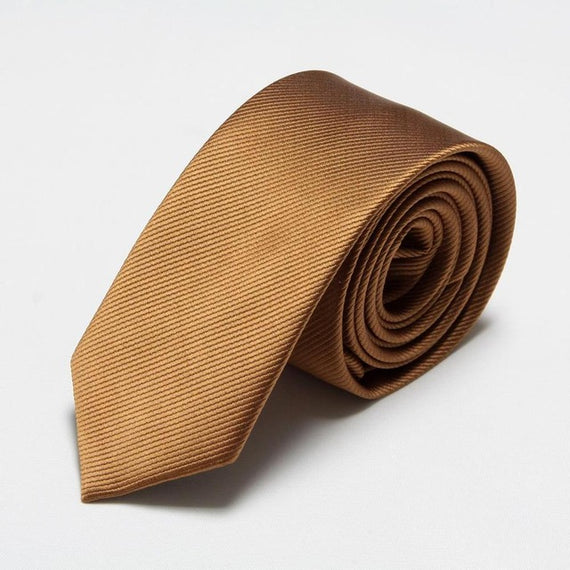 Men's slim neckties-default-Dee SuSu-6cm brown-Dee SuSu