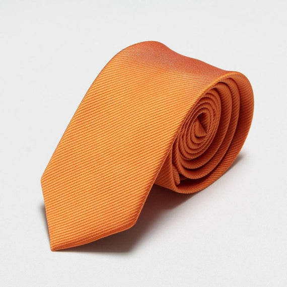 Men's slim neckties-default-Dee SuSu-6cm orange-Dee SuSu