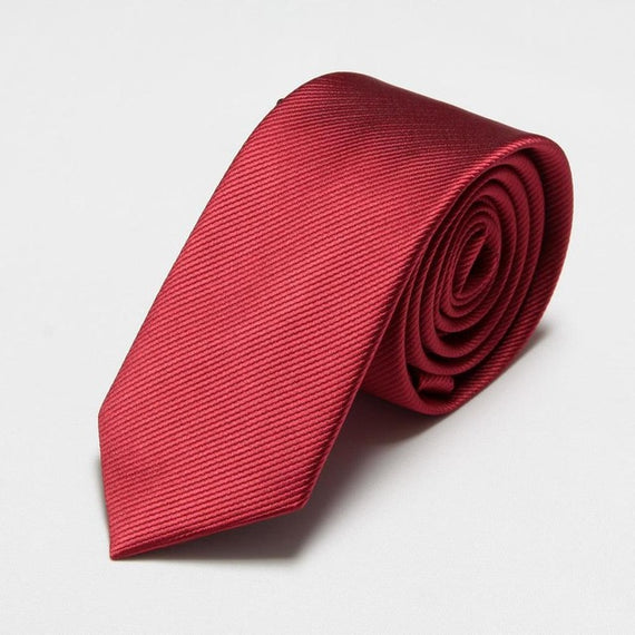 Men's slim neckties-default-Dee SuSu-6cm dark red-Dee SuSu