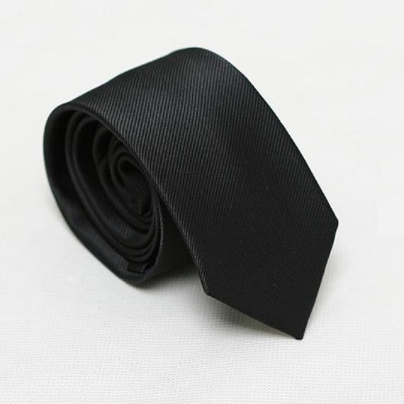Men's slim neckties-default-Dee SuSu-6cm black-Dee SuSu