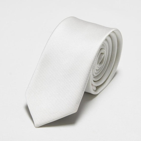 Men's slim neckties-default-Dee SuSu-6cm white-Dee SuSu