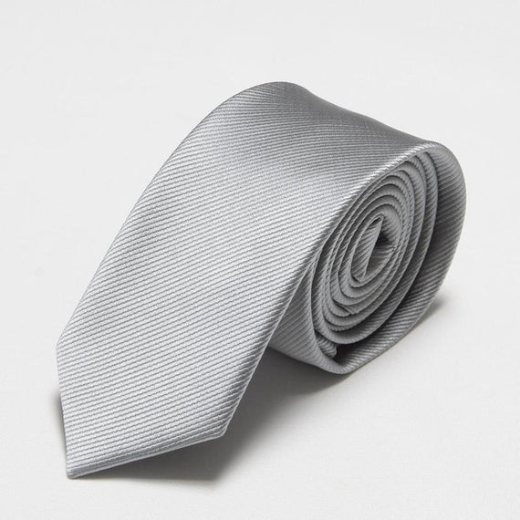 Men's slim neckties-default-Dee SuSu-6cm grey-Dee SuSu