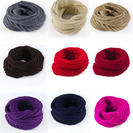 Women Winter Wool Knitted Warm Snood scarf-Dee SuSu-Dee SuSu