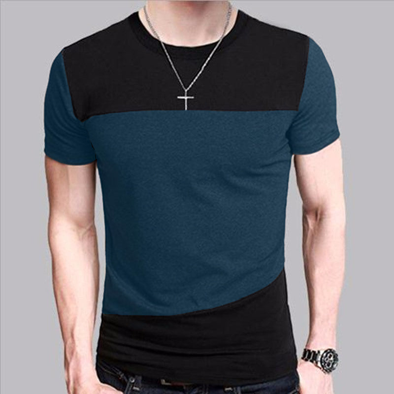 Slim Fit Crew Neck Short Sleeve T-Shirt-Dee SuSu-Dee SuSu