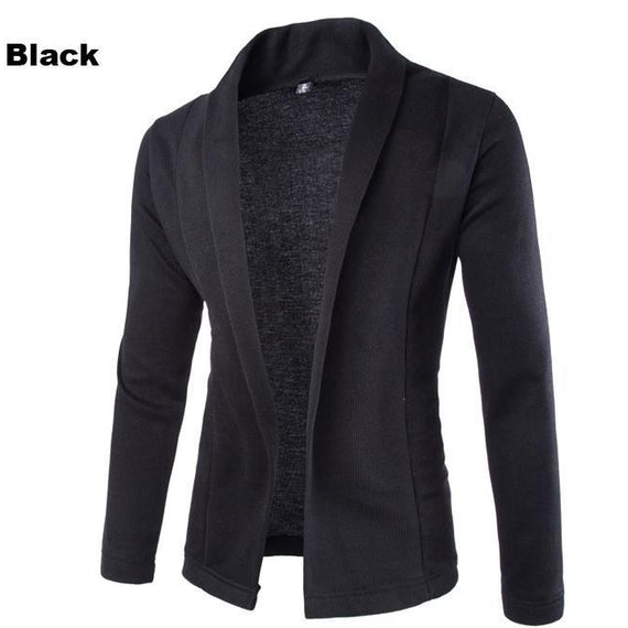 Cardigan for Winter - Men Long Sleeve Sweater-Dee SuSu-Black-L-Dee SuSu
