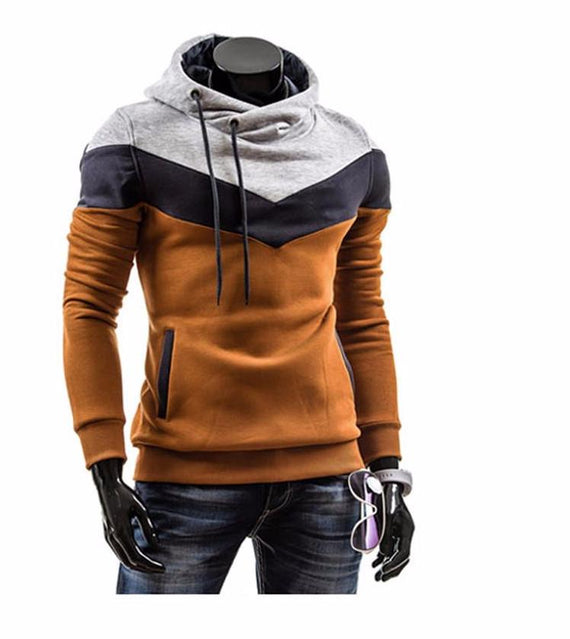 Men's Leisure Slim Patchwork Hoodies-Dee SuSu-Dee SuSu