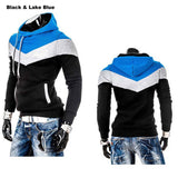 Men's Leisure Slim Patchwork Hoodies-Dee SuSu-Black WaterBlueHat-L-Dee SuSu