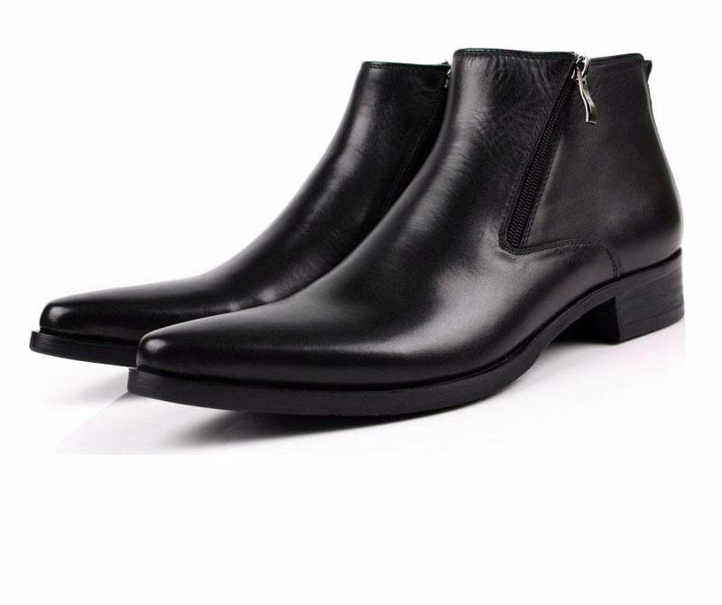 Pointed Toe Leather Boots/Shoes For Men-Dee SuSu-Dee SuSu