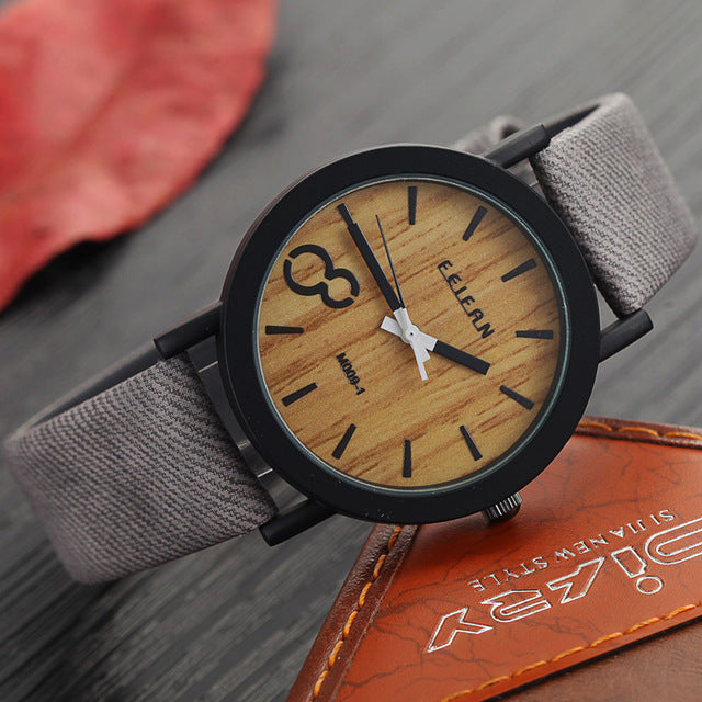 Leather Strap Wooden Wristwatch-Dee SuSu-As the picture 3-Dee SuSu