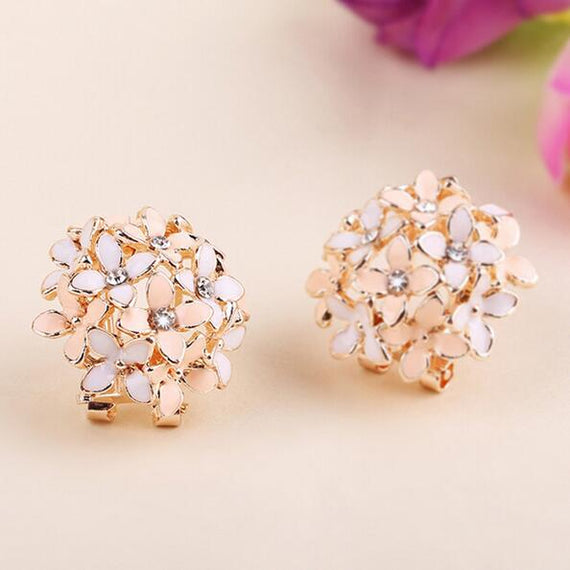Floral Earrings-Dee SuSu-Beige white-Dee SuSu