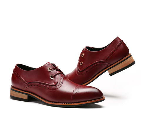 Classic pointed toe dress shoes for men-Dee SuSu-Wine Red-6.5-Dee SuSu