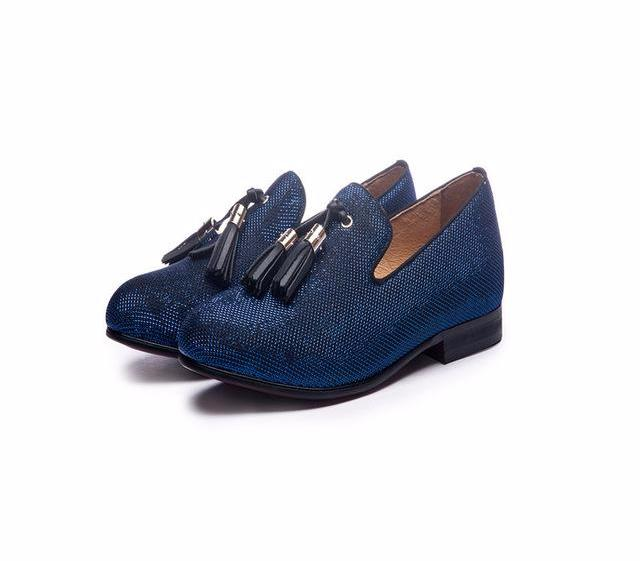 Gentleman Slip-on Handmade Loafers-Dee SuSu-Blue-6-Dee SuSu