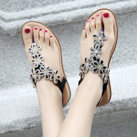 Boho Beaded Sandals-Dee SuSu-Black-4-Dee SuSu