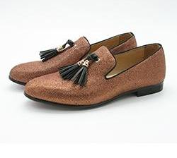 Gentleman Slip-on Handmade Loafers-Dee SuSu-Gold-6-Dee SuSu