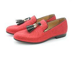 Gentleman Slip-on Handmade Loafers-Dee SuSu-Red-6-Dee SuSu