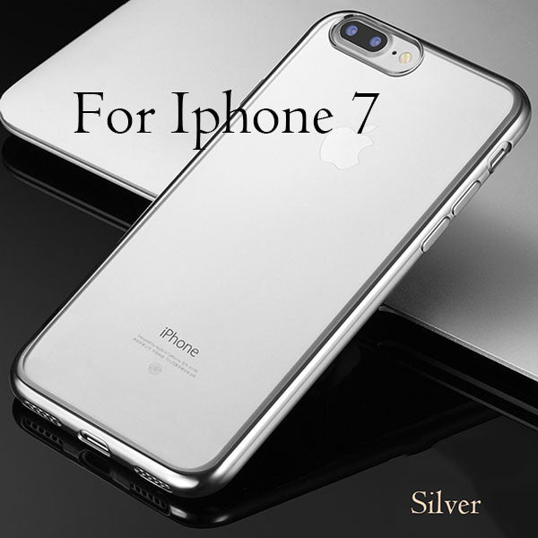 Cover For iPhone 7 / 6 / 6s / Plus / 5 / 5s / SE-Dee SuSu-Silver For i7-Dee SuSu
