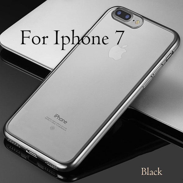 Cover For iPhone 7 / 6 / 6s / Plus / 5 / 5s / SE-Dee SuSu-Gray Black For i7-Dee SuSu