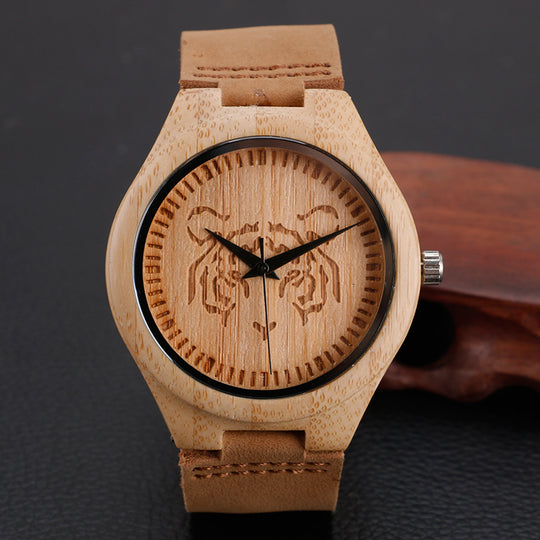 Handmade Natural Wooden Wrist Watches For Men-Dee SuSu-Dee SuSu
