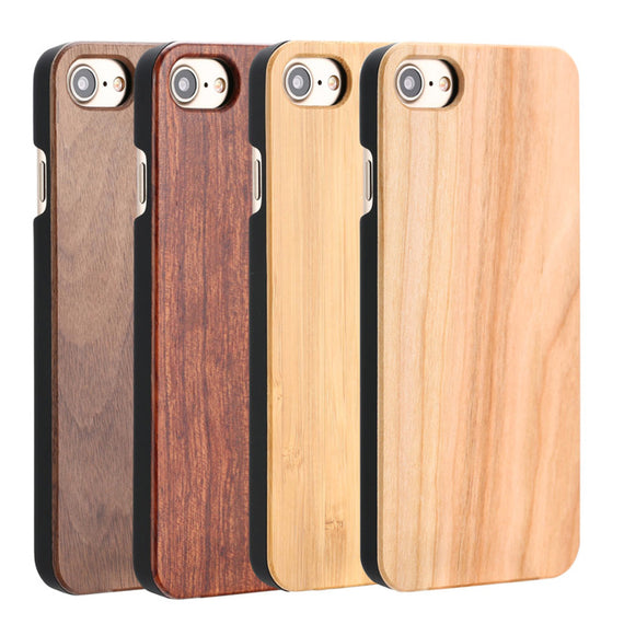 High Quality Durable Natural Rosewood Bamboo Walnut Wooden Hard Phone Cases For iPhones-Dee SuSu-Dee SuSu