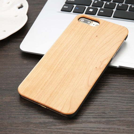 High Quality Durable Natural Rosewood Bamboo Walnut Wooden Hard Phone Cases For iPhones-Dee SuSu-Cherry wood-For iphone 5 5s SE-Dee SuSu