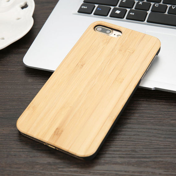High Quality Durable Natural Rosewood Bamboo Walnut Wooden Hard Phone Cases For iPhones-Dee SuSu-Carbonized Bamboo-For iphone 5 5s SE-Dee SuSu