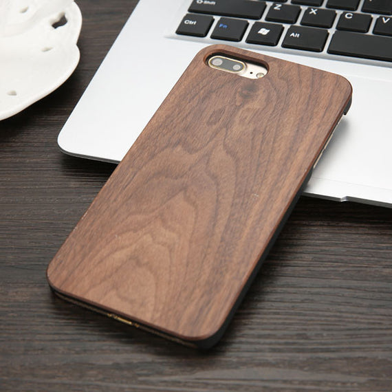High Quality Durable Natural Rosewood Bamboo Walnut Wooden Hard Phone Cases For iPhones-Dee SuSu-Black walnut-For iphone 5 5s SE-Dee SuSu