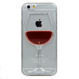 Red Wine Cup Liquid Transparent Case For Apple iPhone-Dee SuSu-Dee SuSu