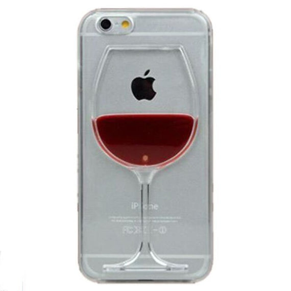 Red Wine Cup Liquid Transparent Case For Apple iPhone-Dee SuSu-for iphone-for iphone 6-Dee SuSu
