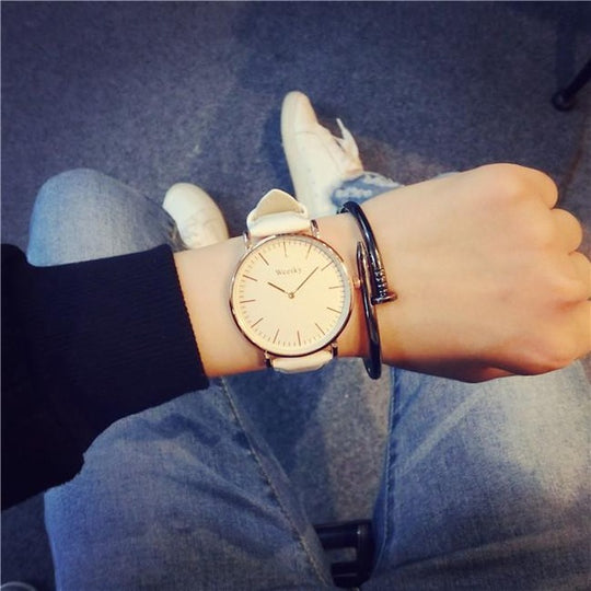 Oversized Boyfriend Watch-Dee SuSu-White-Dee SuSu