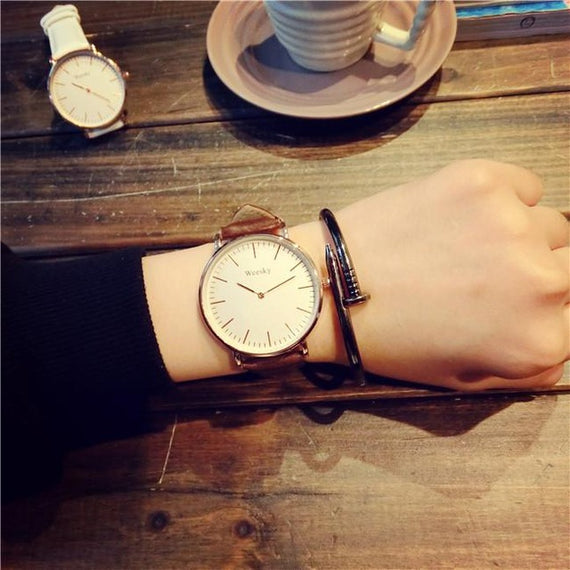 Oversized Boyfriend Watch-Dee SuSu-Brown-Dee SuSu