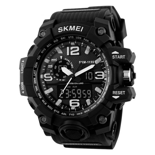 Men's Chronograph Sports Military Watches-Dee SuSu-black-Dee SuSu