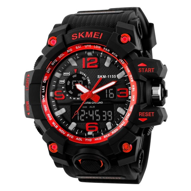 Men's Chronograph Sports Military Watches-Dee SuSu-red-Dee SuSu