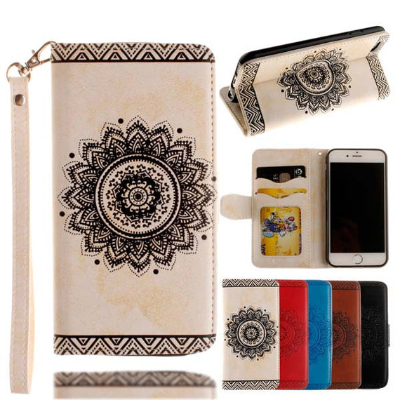 Retro Flip Leather Wallet Style Phone Case For iPhone-Dee SuSu-White-For Iphone 5 5s SE-Dee SuSu