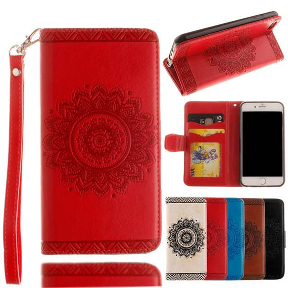 Retro Flip Leather Wallet Style Phone Case For iPhone-Dee SuSu-Red-For Iphone 5 5s SE-Dee SuSu