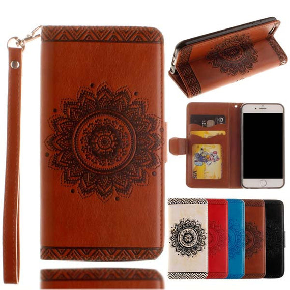 Retro Flip Leather Wallet Style Phone Case For iPhone-Dee SuSu-Brown-For Iphone 5 5s SE-Dee SuSu